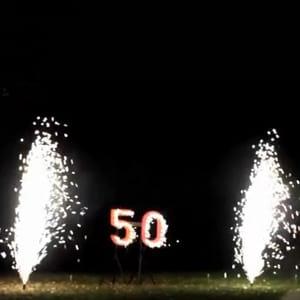 izgaismots skaitlis 50